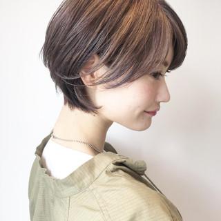 ナチュラル 簡単ヘアアレンジ 前下がりショート 黒髪 ヘアスタイルや髪型の写真・画像 ヘアスタイルや髪型の写真・画像