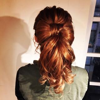 セミロング 大人かわいい ストリート ヘアアレンジ ヘアスタイルや髪型の写真・画像