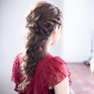 セミロング 学校 成人式 大人かわいい ヘアスタイルや髪型の写真・画像