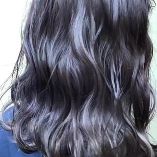ダブルカラー セミロング 外国人風カラー ストリート ヘアスタイルや髪型の写真・画像