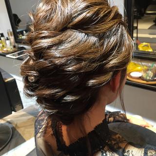 ゆるふわ 上品 セミロング 結婚式 ヘアスタイルや髪型の写真・画像