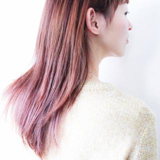 アッシュバイオレット ロング パープル バイオレットアッシュ ヘアスタイルや髪型の写真・画像