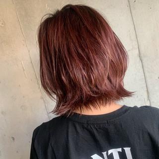 ストリート ピンク ベリーピンク コリアンピンク ヘアスタイルや髪型の写真・画像