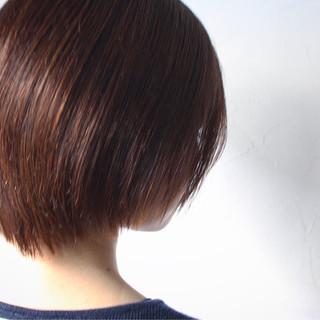 ボブ グラデーションカラー ショート 大人女子 ヘアスタイルや髪型の写真・画像