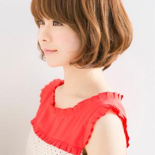 バレンタイン 愛され ヘアアレンジ ボブ ヘアスタイルや髪型の写真・画像