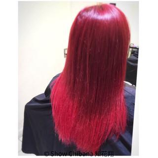 グラデーションカラー ピンク 外国人風 ロング ヘアスタイルや髪型の写真・画像