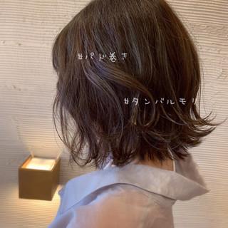 透明感 韓国ヘア ヘアアレンジ 切りっぱなしボブ ヘアスタイルや髪型の写真・画像