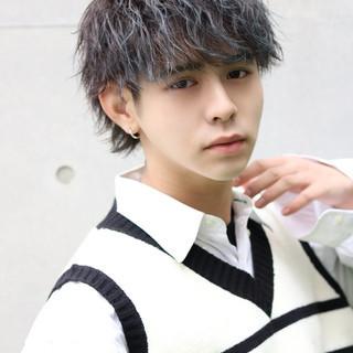 メンズ ショート 韓国ヘア メンズパーマ ヘアスタイルや髪型の写真・画像
