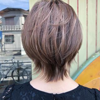 ナチュラル ショート ハイライト ダブルカラー ヘアスタイルや髪型の写真・画像