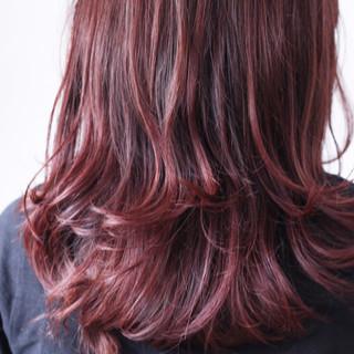 ラベンダーピンク ラベンダー モーブ セミロング ヘアスタイルや髪型の写真・画像