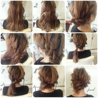 ロング 大人かわいい 編み込み 抜け感 ヘアスタイルや髪型の写真・画像 ヘアスタイルや髪型の写真・画像