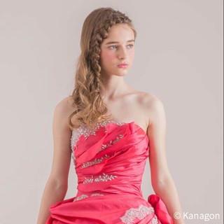 外国人風 ヘアアレンジ 結婚式 ブライダル ヘアスタイルや髪型の写真・画像