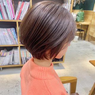 ナチュラル 簡単ヘアアレンジ アンニュイほつれヘア ショート ヘアスタイルや髪型の写真・画像