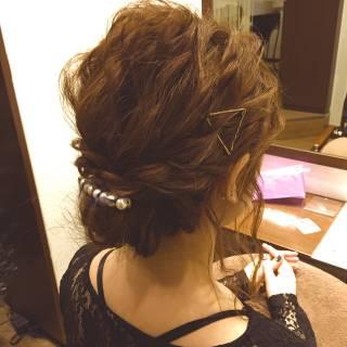 フェミニン コンサバ 愛され ヘアアレンジ ヘアスタイルや髪型の写真・画像