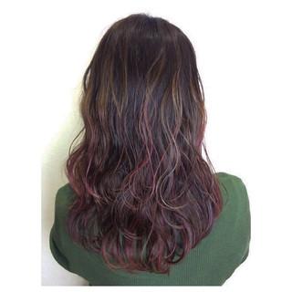 フェミニン ロング グラデーションカラー 外国人風 ヘアスタイルや髪型の写真・画像