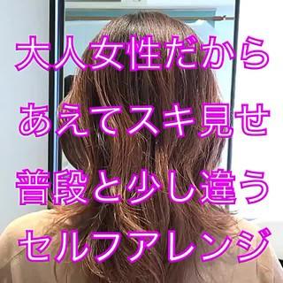 セルフヘアアレンジ 簡単ヘアアレンジ フェミニン ヘアアレンジ ヘアスタイルや髪型の写真・画像 ヘアスタイルや髪型の写真・画像