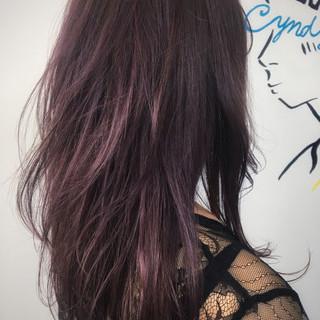 ストリート ロング ピンク パープル ヘアスタイルや髪型の写真・画像