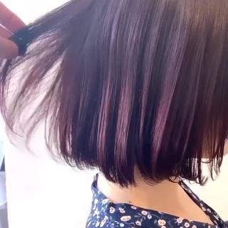 透明感カラー ピンクアッシュ フェミニン ブリーチなし ヘアスタイルや髪型の写真・画像