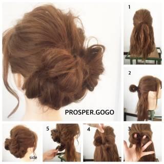 モテ髪 簡単ヘアアレンジ 愛され ショート ヘアスタイルや髪型の写真・画像