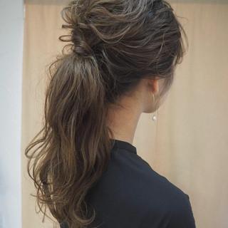編み込み ナチュラル ヘアアレンジ 結婚式 ヘアスタイルや髪型の写真・画像 ヘアスタイルや髪型の写真・画像