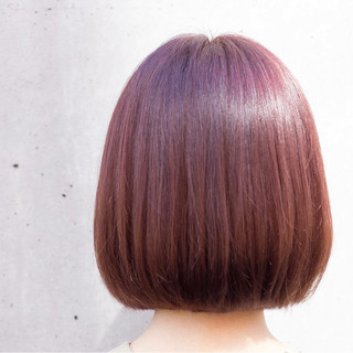オフィス ボブ グレージュ 冬 ヘアスタイルや髪型の写真・画像