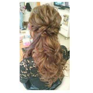 ゆるふわ 波ウェーブ ルーズ ヘアアレンジ ヘアスタイルや髪型の写真・画像