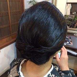 着物 黒髪 ヘアアレンジ ボブ ヘアスタイルや髪型の写真・画像 ヘアスタイルや髪型の写真・画像