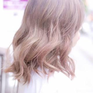 透明感 ミディアム 春 グレー ヘアスタイルや髪型の写真・画像
