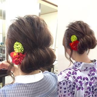 ミディアム かわいい ギブソンタック 簡単ヘアアレンジ ヘアスタイルや髪型の写真・画像 ヘアスタイルや髪型の写真・画像