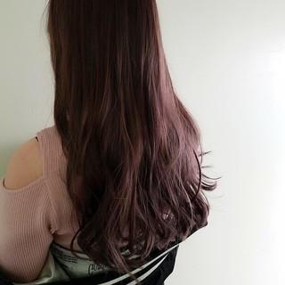外国人風 ピンク モード ハイライト ヘアスタイルや髪型の写真・画像