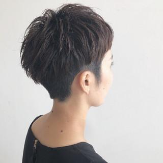 ショート 大人かわいい ヘアアレンジ 前髪あり ヘアスタイルや髪型の写真・画像