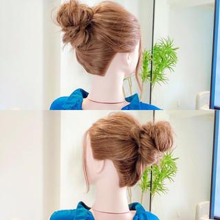 セルフヘアアレンジ 簡単ヘアアレンジ ヘアセット アップスタイル ヘアスタイルや髪型の写真・画像