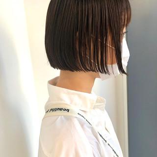 ショートボブ ボブ 切りっぱなしボブ ショートヘア ヘアスタイルや髪型の写真・画像