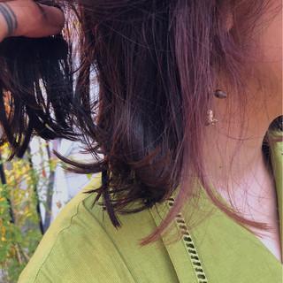 ヘアアレンジ ボブ グラデーションカラー インナーカラー ヘアスタイルや髪型の写真・画像 ヘアスタイルや髪型の写真・画像