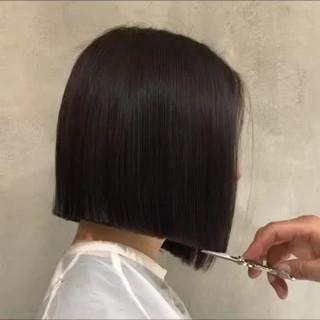 外ハネ 色気 ボブ ショートボブ ヘアスタイルや髪型の写真・画像