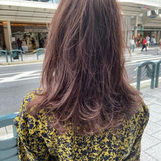 ピンクベージュ 大人ハイライト ハイライト コントラストハイライト ヘアスタイルや髪型の写真・画像