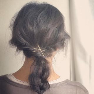編み込み 大人女子 ゆるふわ ヘアアレンジ ヘアスタイルや髪型の写真・画像