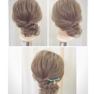 ヘアアレンジ 和装 お団子 夏 ヘアスタイルや髪型の写真・画像 ヘアスタイルや髪型の写真・画像