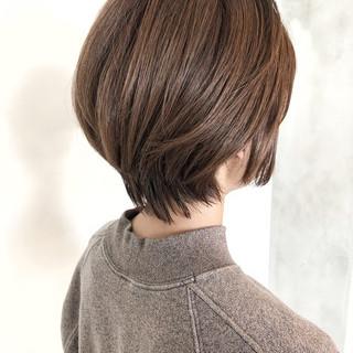 ショート ショートヘア ミニボブ 大人ミディアム ヘアスタイルや髪型の写真・画像