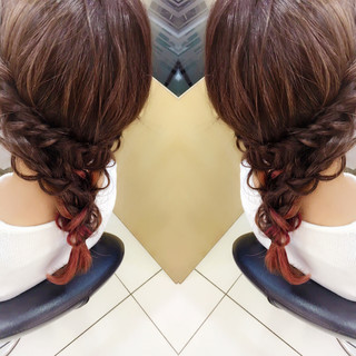 ヘアアレンジ 大人女子 ハイライト 簡単ヘアアレンジ ヘアスタイルや髪型の写真・画像