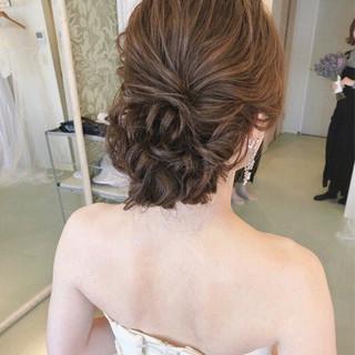 ゆるふわ アンニュイ 結婚式 大人女子 ヘアスタイルや髪型の写真・画像