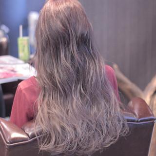 グラデーションカラー ハイライト モテ髪 外国人風 ヘアスタイルや髪型の写真・画像
