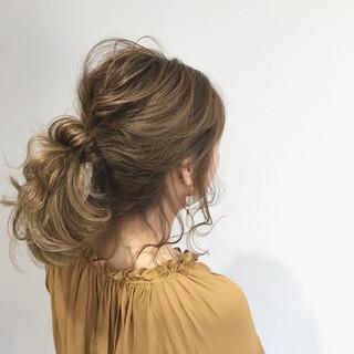 ヘアアレンジ デート ハイライト 結婚式 ヘアスタイルや髪型の写真・画像