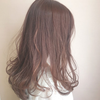 ラベンダー 透明感 ナチュラル ピンク ヘアスタイルや髪型の写真・画像