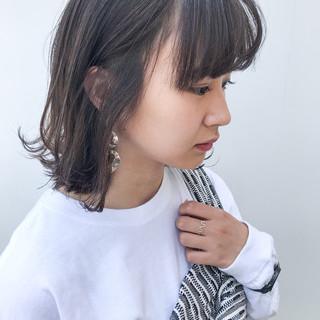 ミディアム 横顔美人 オフィス コンサバ ヘアスタイルや髪型の写真・画像