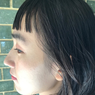 デート 抜け感 モード 黒髪 ヘアスタイルや髪型の写真・画像
