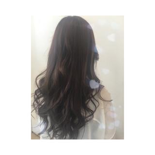 大人かわいい 暗髪 ナチュラル ブラウン ヘアスタイルや髪型の写真・画像