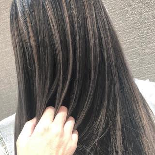 ミディアム 外国人風 バレイヤージュ 外国人風カラー ヘアスタイルや髪型の写真・画像