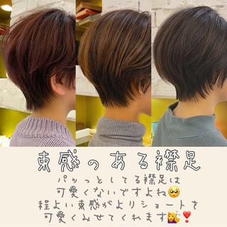 ショート ナチュラル ショートヘア ベリーショート ヘアスタイルや髪型の写真・画像
