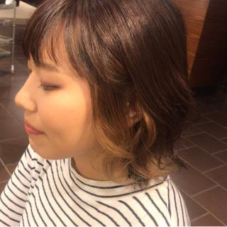 ハイライト インナーカラー 暗髪 外国人風 ヘアスタイルや髪型の写真・画像